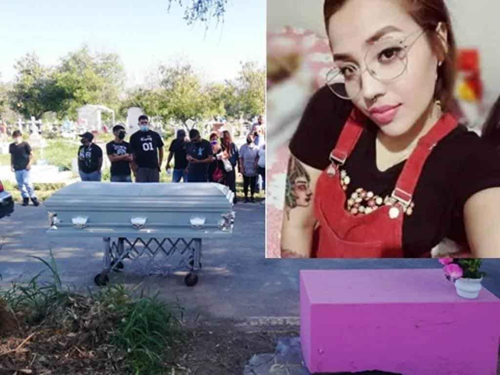 La joven que falleció por una mala intervención quirúrgica, fue sepultada en un panteón de Monterrey.