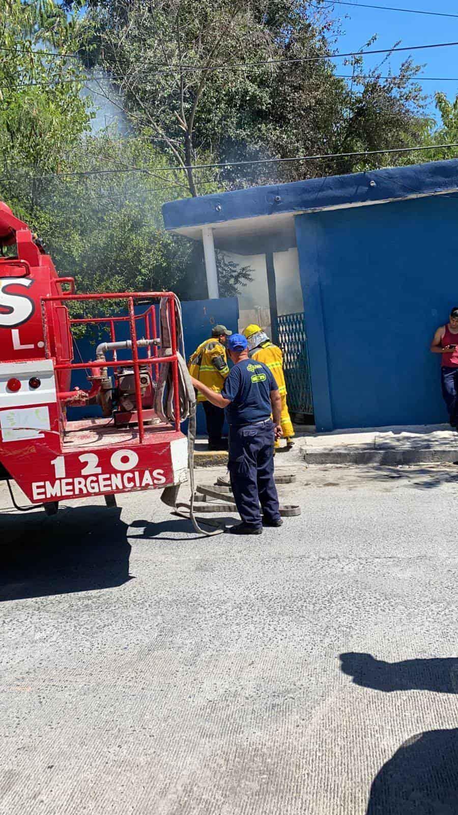 Una intensa movilización de los puestos de socorro se registró en el municipio de Cadereyta, al reportarse el incendio