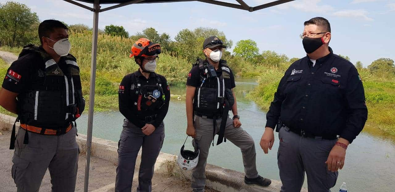 El cuerpo del menor que cayó al cauce del Río San Juan,  en Cadereyta Jiménez, fue localizado por las autoridades