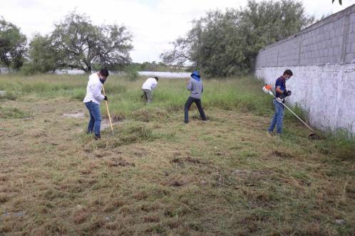 Dos escuelas de Guadalupe beneficiadas con programa limpieza