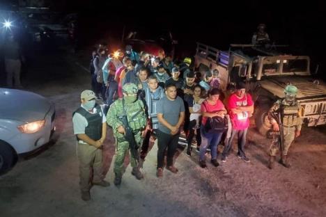 Rescatan a 152 migrantes en Camargo